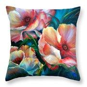 Vibrant Poppies Throw Pillow