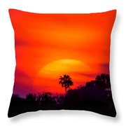 Vibrant Spring Sunset Throw Pillow