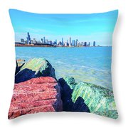 Vibrant Summer Vibes Throw Pillow