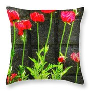 Vibrant Tones Throw Pillow