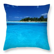 Vibrant Turquoise Waters Throw Pillow