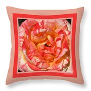 Vibrant Two Toned Rose With Design Throw Pillow