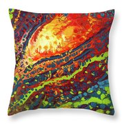 Vibrant Verve Throw Pillow