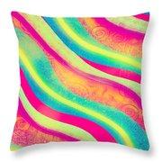Vibrant Waves Throw Pillow