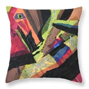 Vibrations Of Color Throw Pillow