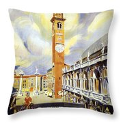Vicenza Italy Travel Poster Throw Pillow