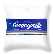 Vicenza Shop Sign In Blue Throw Pillow
