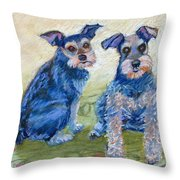 Vickie's Pups Throw Pillow