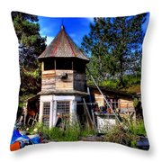 Vic's Shed Throw Pillow