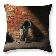 Victim Of Circumstance Throw Pillow