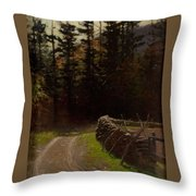 Victor Coleman Anderson  1882  1937 Road By The Woods Throw Pillow