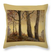 Victor Coleman Anderson 1882  1937 Wet Leaves Throw Pillow