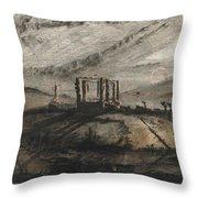 Victor Hugo   Gallows Of Montfaucon   1847 Throw Pillow