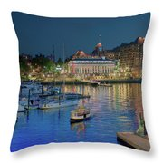 Victoria At Night Throw Pillow