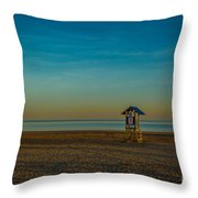 Victoria Beach Throw Pillow