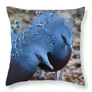 Victoria Crowned Pigeon 5 Throw Pillow