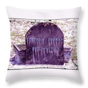Victoria Eternal Sleep Throw Pillow