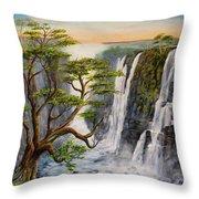 Victoria Falls Zimbabwe  Throw Pillow