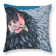Victoria, Lavender Cochin Chicken Throw Pillow