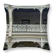 Victoria Street Balcony Throw Pillow