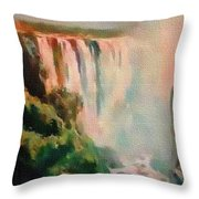 Victoria Waterfalls L B Throw Pillow