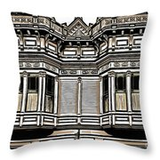 Victorian Architecture Details Throw Pillow