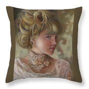 Victorian Beauty Throw Pillow