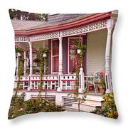 Victorian - Belvidere Nj - The Beauty Of Spring  Throw Pillow by Mike Savad