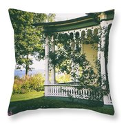 Victorian By The Sea Throw Pillow