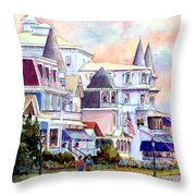 Victorian Cape May New Jersey Throw Pillow