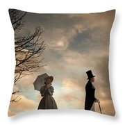 Victorian Couple Parting  Throw Pillow