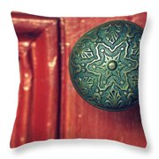 Victorian Door Handle Throw Pillow