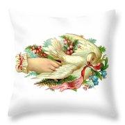 Victorian Dove Throw Pillow