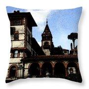 Victorian Era Hotel Throw Pillow