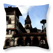 Victorian Era Hotel Throw Pillow
