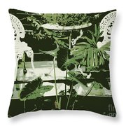 Victorian Garden Poster Throw Pillow
