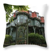 Victorian Guesthouse Throw Pillow