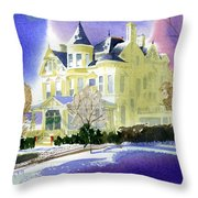Victorian Holiday Throw Pillow