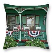 Victorian House And Garden. Throw Pillow