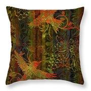 Victorian Humming Bird 3 Throw Pillow by JQ Licensing