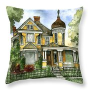 Victorian In The Avenues Throw Pillow