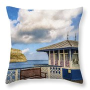 Victorian Pier In Llandudno Throw Pillow