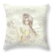 Victorian Princess Altiana Throw Pillow