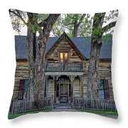 Victorian Sedman House In Montana State Throw Pillow