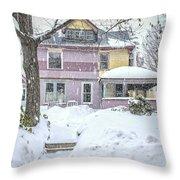 Victorian Snowstorm Throw Pillow