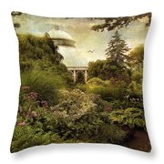 Victorian Spring Throw Pillow