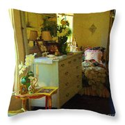 Victorian Sunshine Throw Pillow