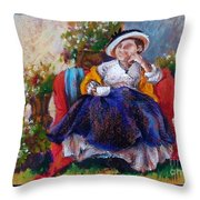 Victorian Tea Time Throw Pillow