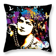 Victorian Temptation - Bespattered Throw Pillow