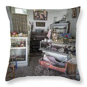 Victorian Toy Shop - Virginia City Montana Throw Pillow by Daniel Hagerman